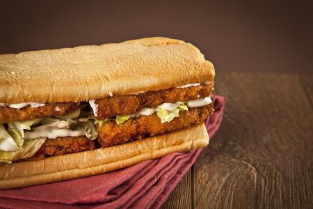 Breaded Fish Sandwich with Tartar Sauce photo