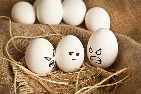 melodramatic: Eggs with human characteristics