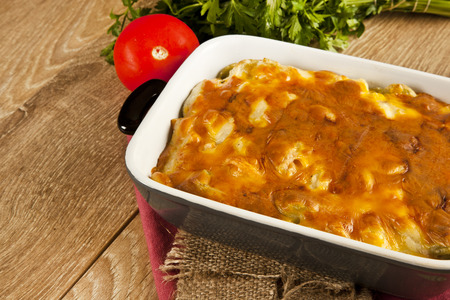 cheddar: Baked Pasta fresh vegetable with cheddar cheese