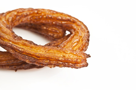 caloric: Turkish doughnuts or traditional ring sweet - Halka Tatli kerhane tatlisi Stock Photo