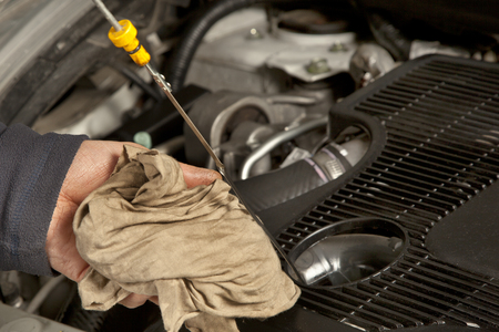 Inspection of the engine oil Imagens