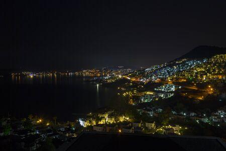 Yalikavagi Turkey Bay View at Night