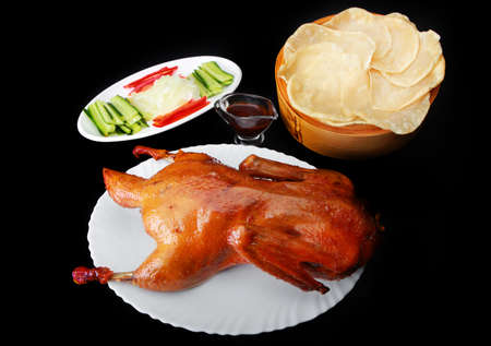 duck cooked in Beijing Stock Photo