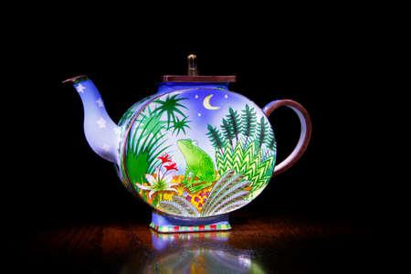 teapot studio quality black background