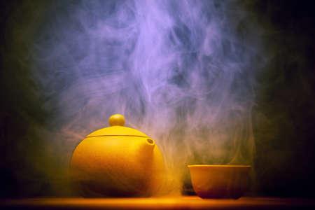 ホット中国茶スタジオスモークテクスチャ