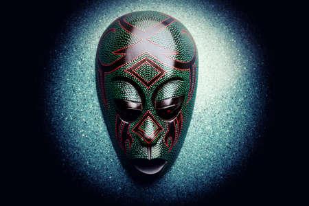 Wooden Asian Mask Studio quality light
