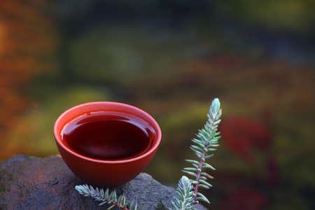 Black Chinese Tea run river