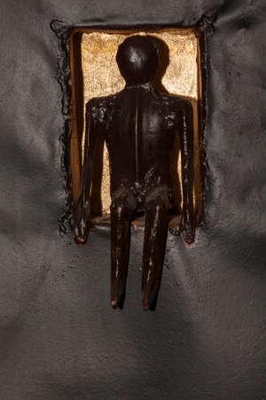 female Metal man figure 写真素材