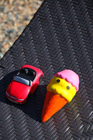 ice-cream car toy beach