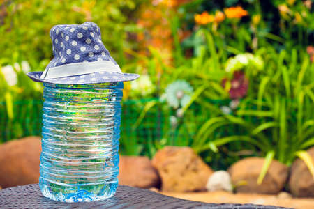 big plastic bottle fresh water hat