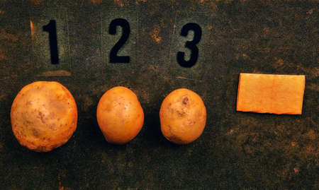 potato number asphalt background