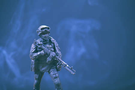 soldier figure smoke background