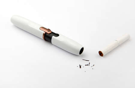 electronic smoke device white background nobody