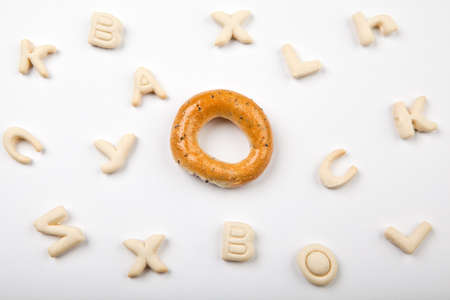cookies alphabet white background