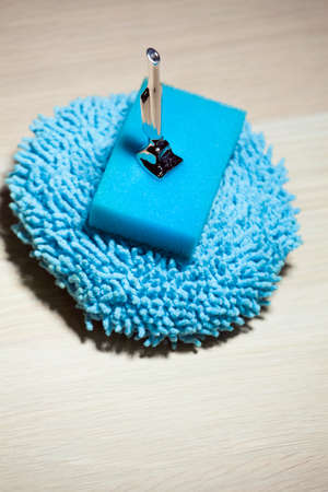 blue clean sponge