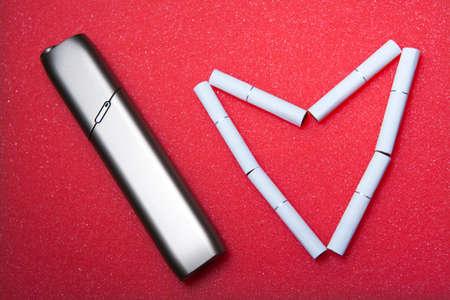 electronic smoke device heart symbol nobody