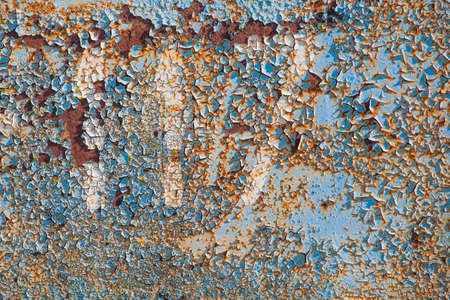 old rusty metal wall background