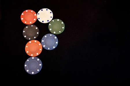 poker bet dark textile background