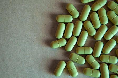 antibiotic pill sharp paper background