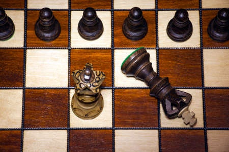 wooden chess board play game