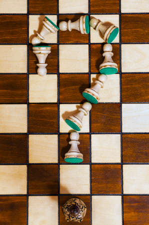 wooden chess board game background