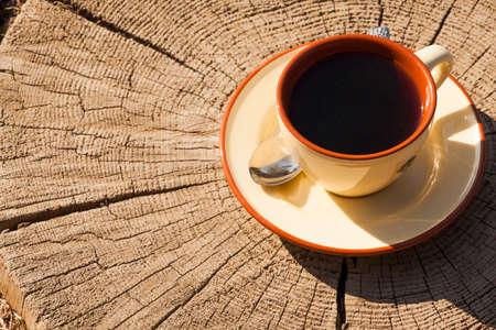 tea cup spoon wooden stub