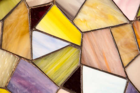 handmade stained glass window background Фото со стока