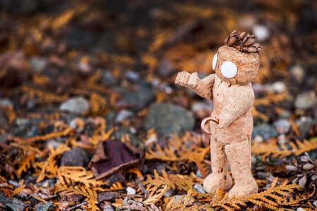 stopper figure dry thuja background