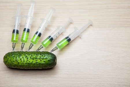 nitrate syringe cucumber table background
