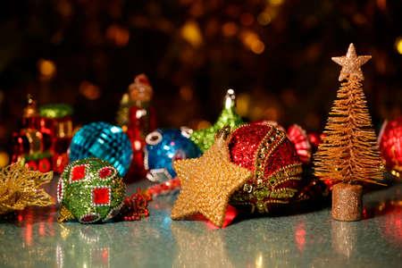 new year toy gold bokeh Stok Fotoğraf