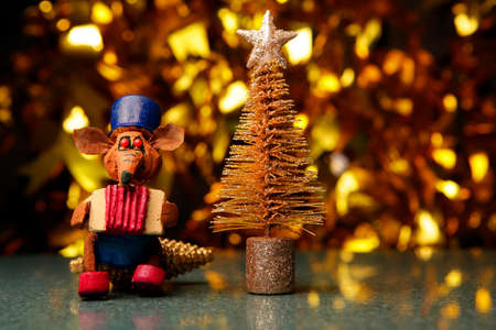 fir tree rat marble gold bokeh