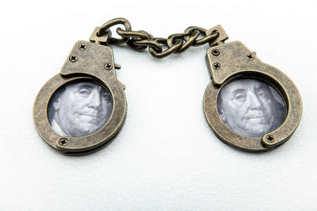 image of handcuff white background