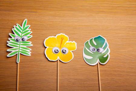 image of paper plant table background Фото со стока