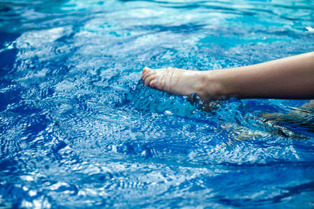 image of swimming pool children foot