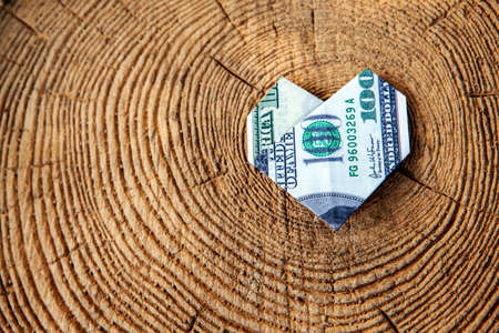 image of money wooden stub