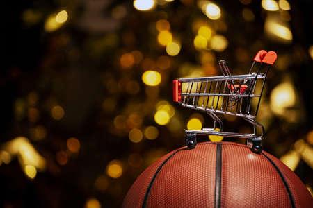 image of basketball trolley dark background 版權商用圖片