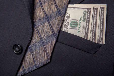 image of jacket tie money