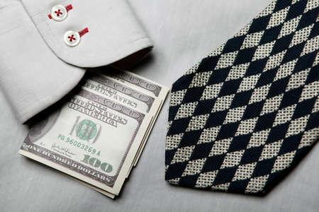 image of shirt tie money Reklamní fotografie