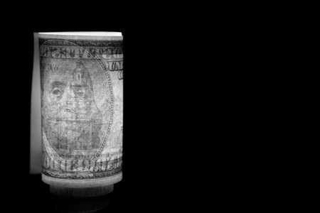 image of money dark background