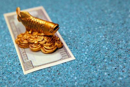 image of fish money stone background