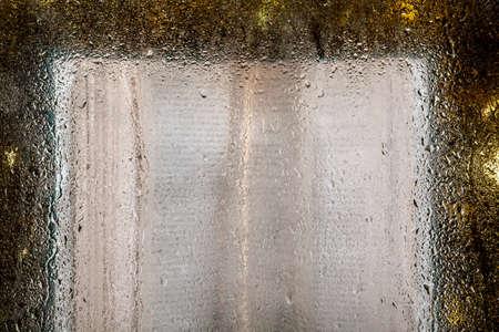 image of book water drop