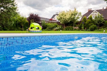 Swimming pool at the backyard of a private villa