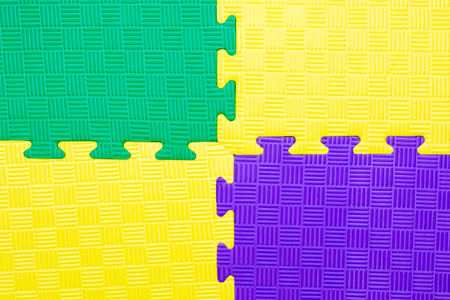 Closeup Of Baby Playing Mat Background Jigsaw Soft Rubber Stock - Rubber connecting floor mats