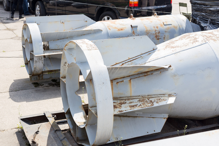 Bombe aéronautique polyvalente Hoge. La plus grande arme explosive aérienne au sol. Concept de course aux armements de la guerre froide