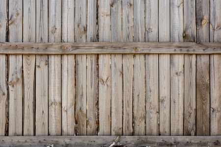 Close-up of vertical simple oak wooden fence background.  Old knotted timber wall. Vintage rustic pattern. Copyspace Banque d'images - 102725986