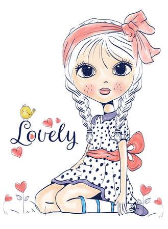 girl Векторная Иллюстрация