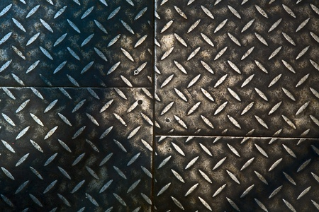 Grunge rusty metal background, metallic panels. Stock Photo - 8860000
