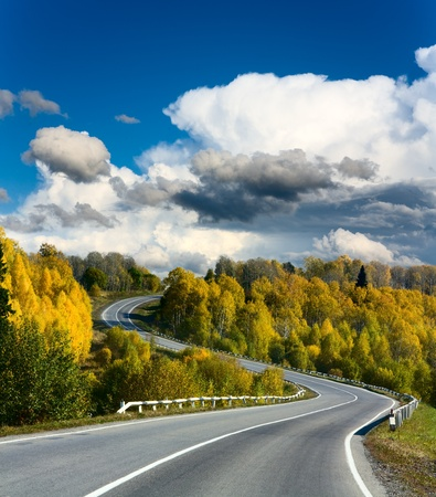 landscape with road Stock Photo - 8859836