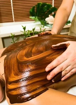 Woman getting spa massage Stock Photo