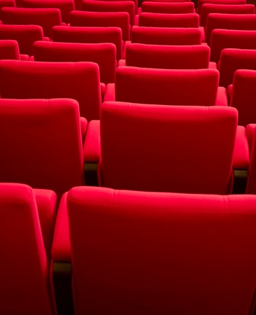Rows of theater seats Stock Photo - 9369902